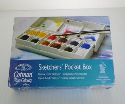 Cotman Sketchers Pocket Box Water Color Paints, Sealed