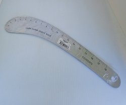 '.Fairgate 12-118 Curved Ruler.'