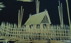 '.Asian Straw Bamboo Art.'