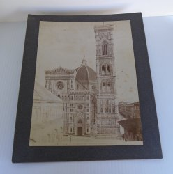 Antique Alinari Print Giotto Florence Italy Cattedrale Duomo