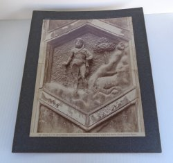 Cain and Abel, Antique Panel Print, Florence Italy Cathedral
