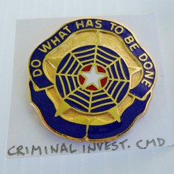 1 Criminal Investigation Command DUI Insignia Pin, U.S. Army