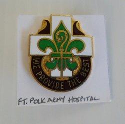 1 Fort Ft. Polk Army Hospital DUI Enamel Insignia Pin