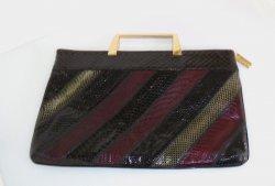 Varon Patchwork Snakeskin Handbag, Vintage 1960s