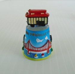 San Francisco Cable Car Souvenir Thimble