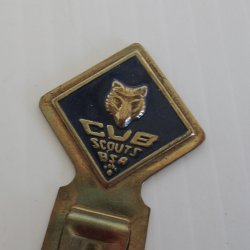 Cub Scouts, Boy Scouts of America Metal Bookmark, 1960s