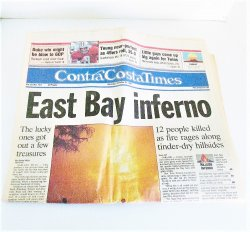 Contra Costa Times, Oct 21 1991, Oakland Hills Fire Inferno