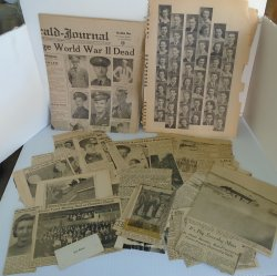 Scrapbook, 1930s-50s WWII, Military Focus, Iowa Nebraska CA