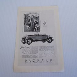 Packard Vintage Advertisement, 1927 Black and White Ad