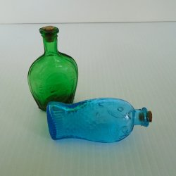 Fisch's Bitters and Benjamin Franklin, 2 Miniature Bottles, 1970s