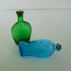 Fisch's Bitters and Benjamin Franklin, 2 Miniature Bottles, 1970s