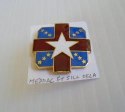 1 MEDDAC, Fort Sill Oklahoma, Enamel DUI Insignia Pin