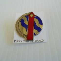 1 Recruiting Command, U.S. Army Red Arrow DUI Insignia Pin