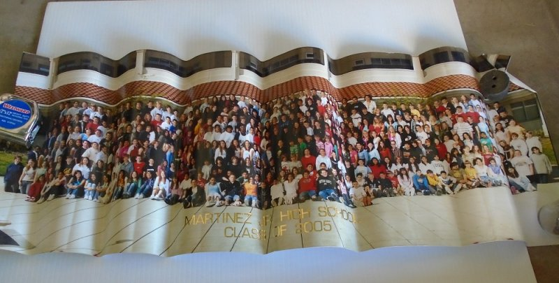 2005 Yearbook and panoramic photo from Martinez Jr. High School in Contra Costa County California.