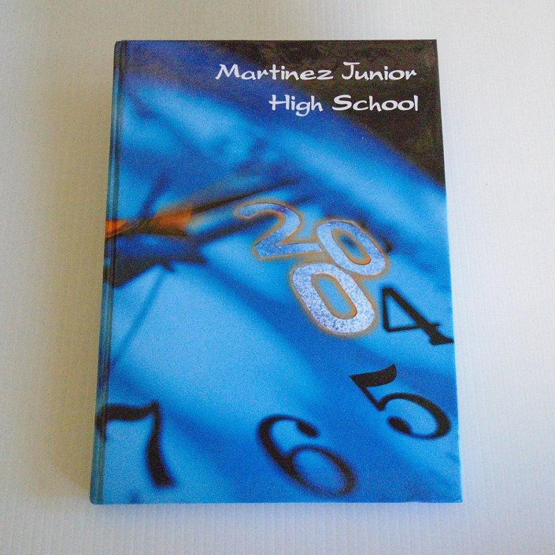 2004 Yearbook and long banner type class photo from Martinez Jr. High School in Contra Costa County California.