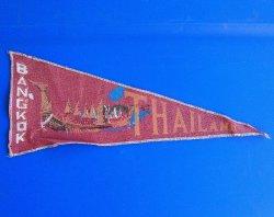 Bangkok Thailand Cloth Banner Pennant Flag, 1950s - 1970s