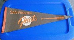 San Francisco Giants Vintage 1960s Orange Bat Pennant Banner