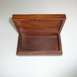 '.Rosewood Brass Inlay Box.'