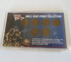 WWII Shell Case Penny Collection, Wheat Pennies