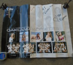 Oakland Raiders Raiderettes Poster, some autographs to Ricky