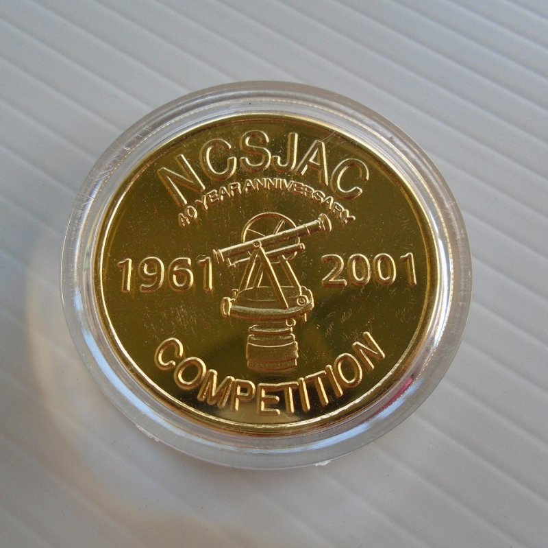 40th Anniversary token celebrating NCSJAC, Northern California Surveyors Joint Apprenticeship Committee. Dated October 5, 1961