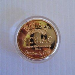'.NCSJAC 40th Anniversary Token.'