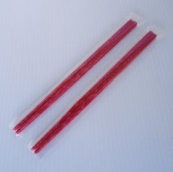 Chopsticks, Deep Rose Colored Marbled Design, 2 pair