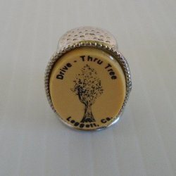Leggett California Drive Thru Trees Souvenir Thimble