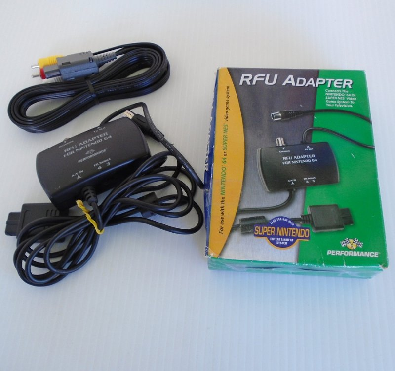 Nintendo 64 and Super NES RFU Adapter and Video Cable