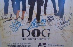 '.Dog Bounty Hunter autographs.'