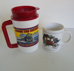 Wells Fargo Hot Cold Thermo Travel Mug and Coffee Cup