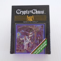 Crypts of Chaos Atari 2600 Cartridge Game dated 1982