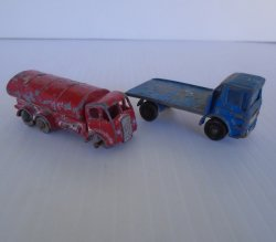 Lesney Matchbox Vehicles, Site Hut Truck and Petrol Tanker
