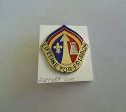 '.Support Command Army DUI pin.'