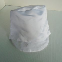 Christening Cap with Brim, Infant Boy 18 month