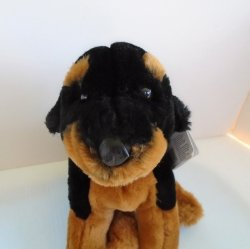 Purebred Rottweiler, Animal Alley Plush Puppy Dog