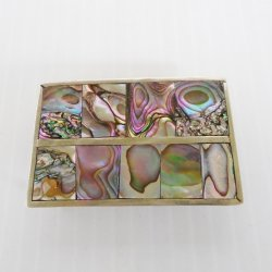 Abalone and Probable 925 Silver Belt Buckle, Mexico, Vintage
