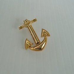 Blackinton Anchor Pin, Navy type, 1/20 10k GF, c WWII