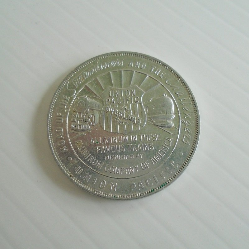 1939 San Francisco Golden Gate International Exposition token. Offered by Union Pacific Railroad.