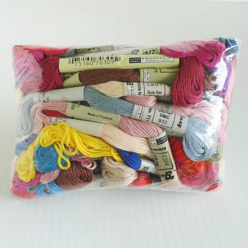 Embroidery Threads 62 Skeins Various Colors Unused