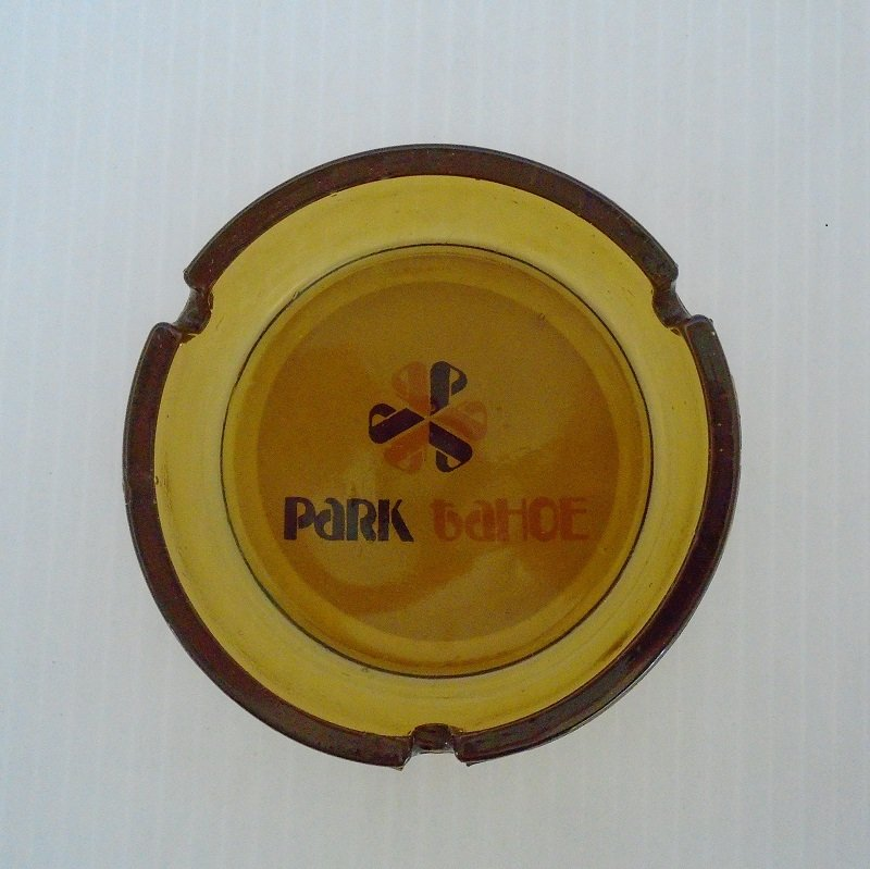 Park Tahoe Hotel Casino 1978 Ashtray. The hotel/casino opened in 1978 and closed in less than one year when taken over by Caesars Tahoe.