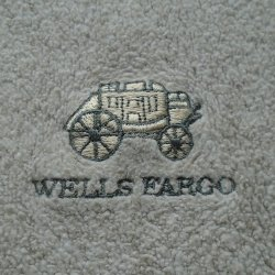 '.Wells Fargo Tan Fleece Shirt.'