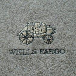 '.Wells Fargo Tan Fleece Shirt.'