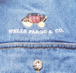'.Wells Fargo Denim Shirt, XL.'