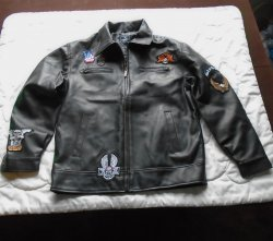 Marc Ecko Biker Jacket, Sz XL, Loaded with Patches