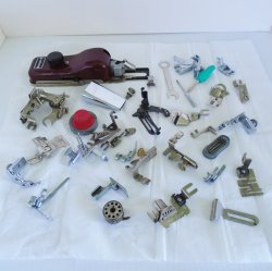 Sewing Machine Attachments, 44 pcs, Singer, Kenmore, others