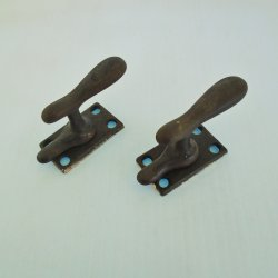 Antique Pivoting Swing Window Sash Locks, Set of 2