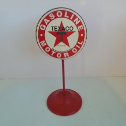Texaco Gasoline Motor Oil Lollipop Desk Sign
