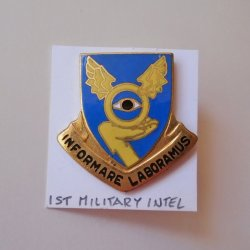 1st Military Intelligence Battalion Insignia Pin, Vietnam