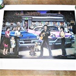 It's Elvis Presley Poster Pamela Renfroe Signed Numbered COA